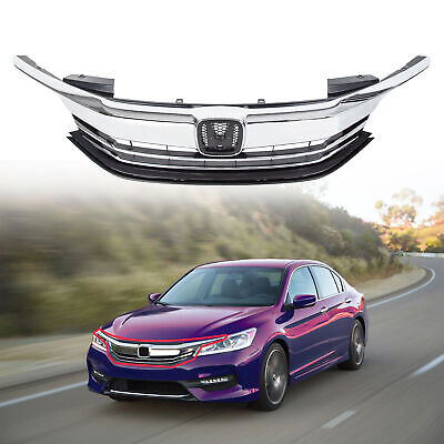 Front Replacement Upper Bumper Grille For Honda Accord 4DR 2016-2017 71121T2FXA5
