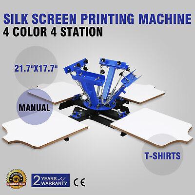 4 Color 4 Station Silk Screen Printing Kit Press Equipment Pressing DIY Machine](Silk Screening Kit)