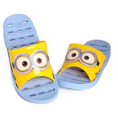 Minions Bob Bathroom Shoes Home Slippers Non-slip Indoor Bath Shower Sandals