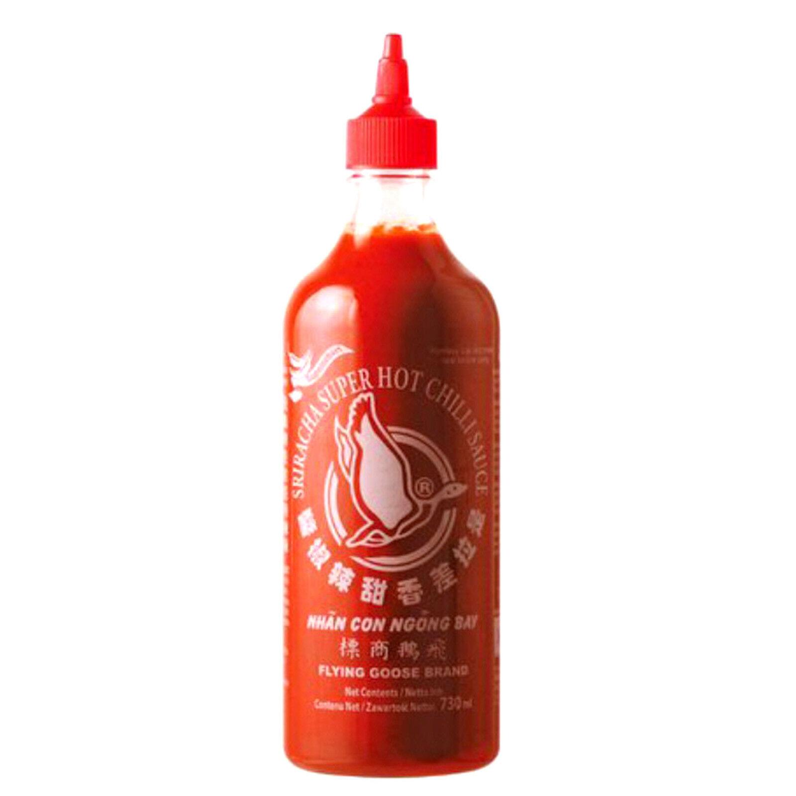 730ml sehr scharfe Sriracha Chilisauce mit Knoblauch Flying Goose Brand 70%Chili