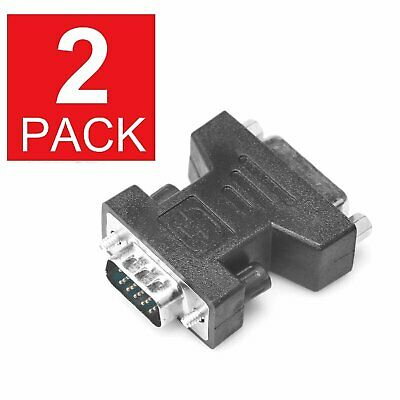 2-Pack DVI-I Female Analog(24+5) to VGA Male(15-pin) Connector Adapter dual link Computer Cables & Connectors