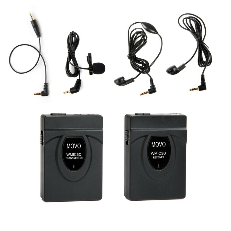 Movo WMIC50 2.4GHz Wireless Lavalier Microphone System for Camera ~ 164