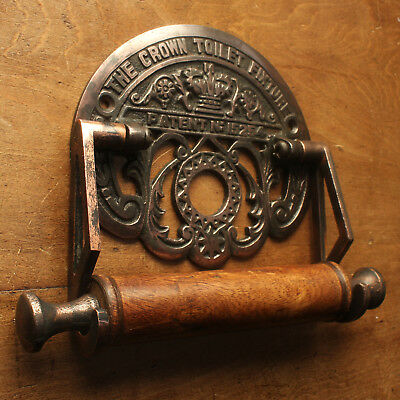 GWR COPPER RAILWAY STYLE TOILET ROLL HOLDER LOO PAPER BATHROOM FIXTURE - BA04
