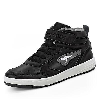 Kangaroos Kinder Jungen Booties Sneaker Winterstiefel Halbschuhe Schuhe schwarz