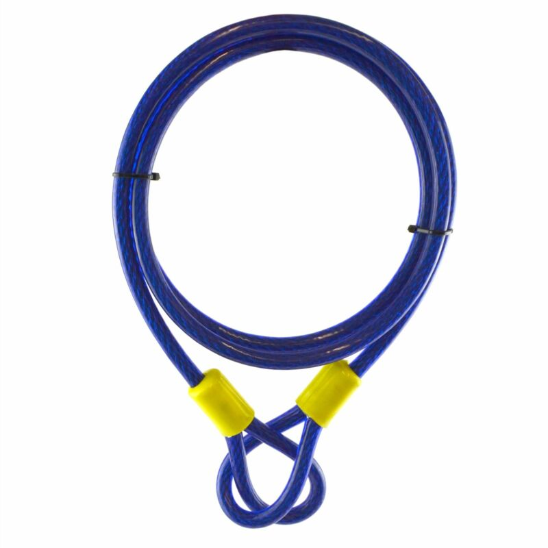 1.8m X 10mm Security Cable Cut Resistant Braided Twisted Steel Loops Lock TE950