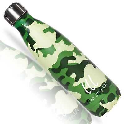 Best Vacuum Insulated Camo Water Bottle- Ice Cold 40 Hours! Revolutionary