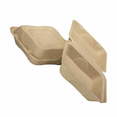 Biodegradable 9x9 Take Out Food Containers With Clamshell Hinged Lid 100 Pack...