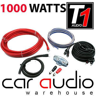 T1 AUDIO PRO 4 1000 WATT 4 AWG Gauge Complete Car Amp Amplifier Wiring Kit Car Audio Pro 1 Amp