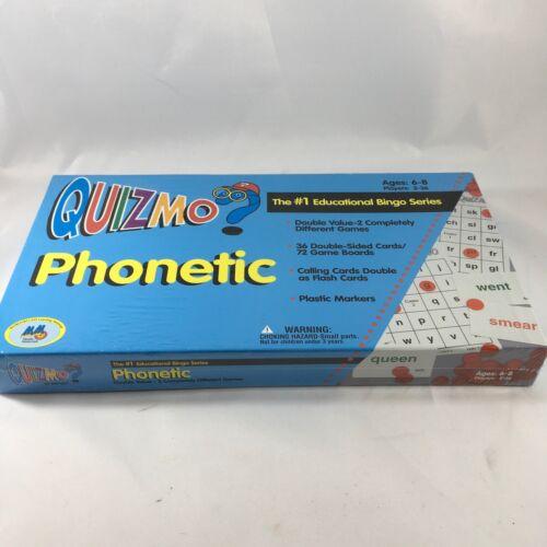 quizmo phonetic educational bingo game ages 6
