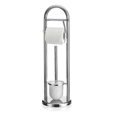 Chrom Wc Papier Halter (WC Garnitur Toilettenbürstenhalter Papierrollenhalter WC Klo Papier Halter chrom)