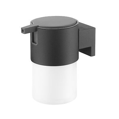 Soap Dispenser Tiger Bold Frosted Glass And Black Metal