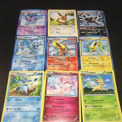 POKEMON: COMPLETE EEVEELUTION CARD SET ESPEON UMBREON SYLVEON JOLTEON EEVEE