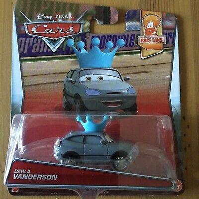 DISNEY PIXAR MATTEL CARS MOVIE DIECAST VEHICLE DARLA VANDERSON TOY CAR 1:55 NEW