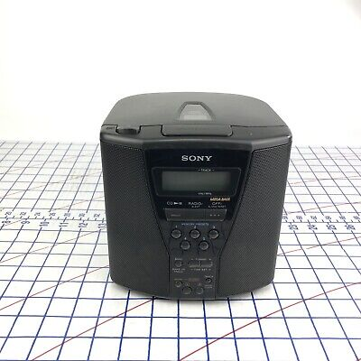 Sony Dual Alarm AM FM CD Player Clock Radio Mega Bass 5 Presets ICF-CD833