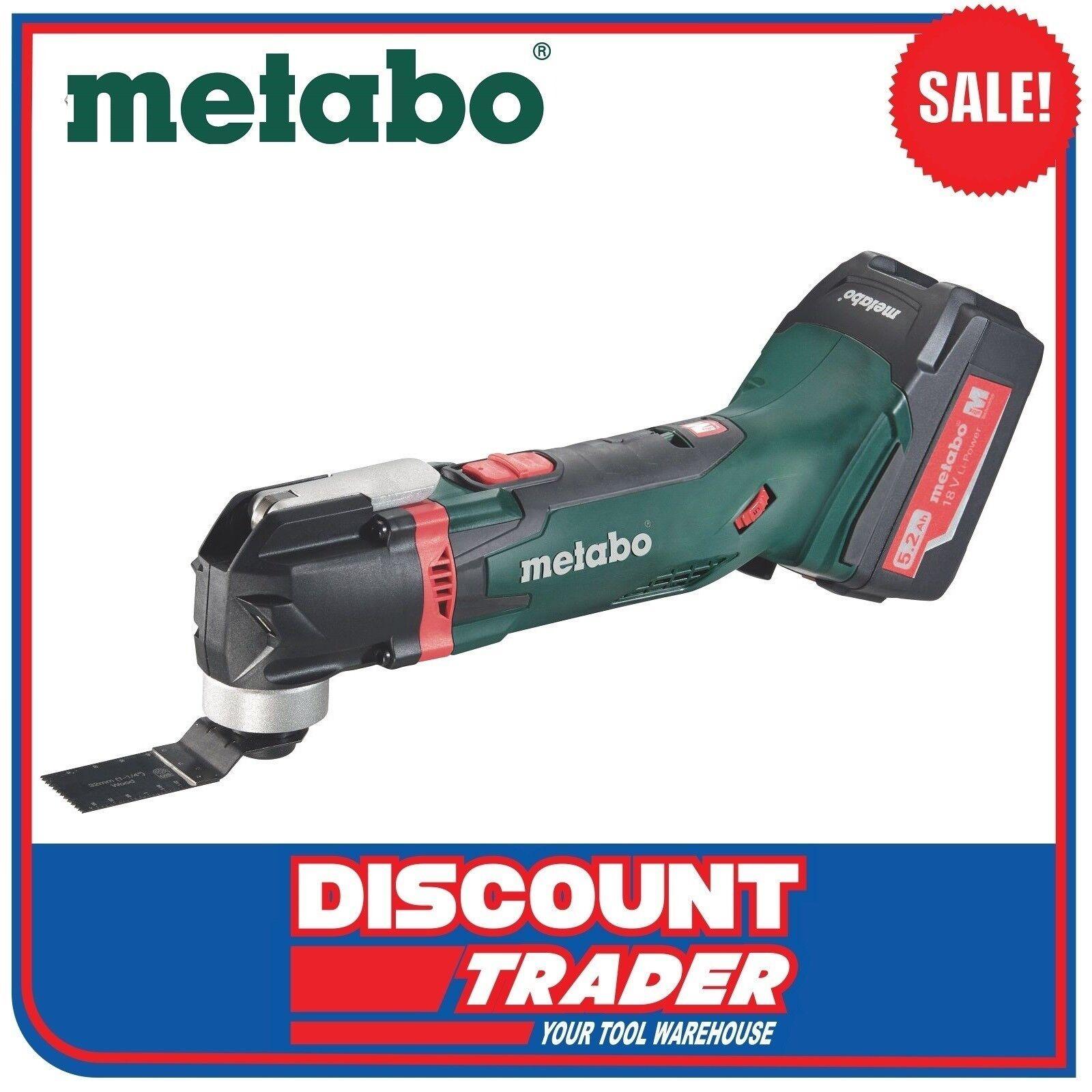 metabo 18v 5.2ah cordless multi-tool kit quick change mt 18 ltx-k