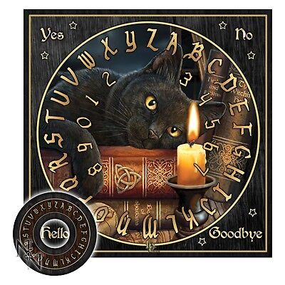 Spirit Halloween Hours (WITCHING HOUR SPIRIT OUIJA BOARD 36cm CAT CANDLE WICCA PAGAN OCCULT)