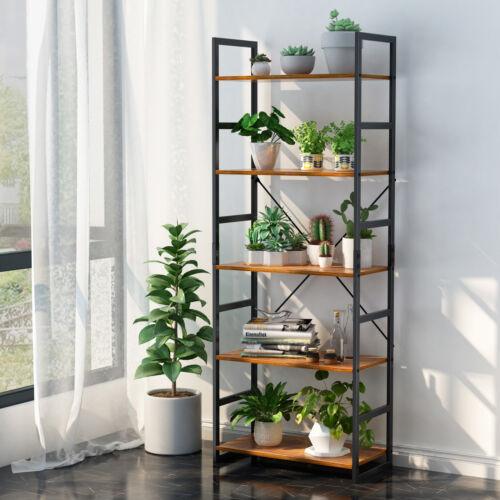 5-Tier Bookshelf Bookcase Storage Organizer Display Rack Hom