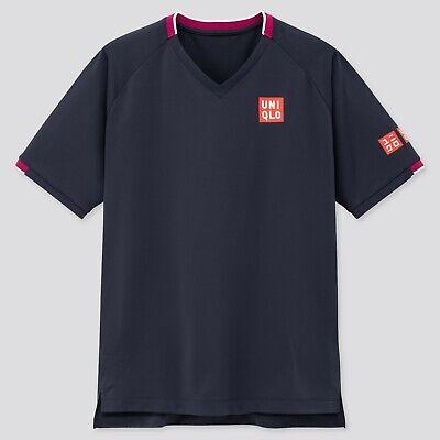 Uniqlo RF UK Small Roger Federer Tennis Shirt BNWT Australian Open 2020 Navy New