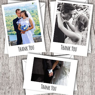 Wedding Thank You Cards • Your Photo • Personalised • Flat/Polaroid Style](Photo Thank You Cards Wedding)