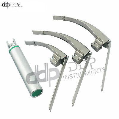 Mccoy Flexi-tip Fiberoptic Led Laryngoscope Set-blade 2 3 4medium Fl-003