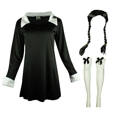 HALLOWEEN SKELETON SCARY DAUGHTER OUTFIT FANCY DRESS FAMILY COSTUME ADAMS WED
