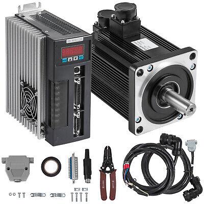 Servo Motor 1.5kw 5nm Ac Servo Driver Kit Cnc Radiator Processing Steel Newest