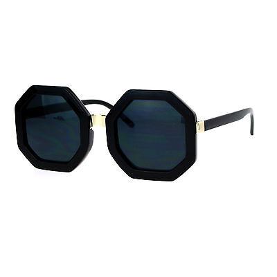 Octagon Shape Sunglasses Womens Unique Oversized Fashion (Unique Sunglasses)