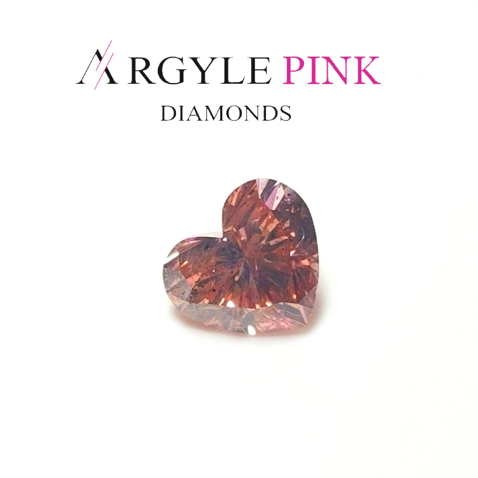 Argyle Pink Diamond - 0.46ct Natural Loose Fancy Intense Pink Color GIA Heart