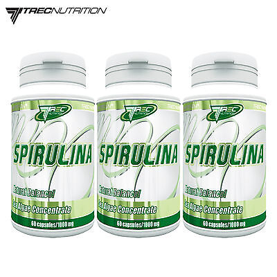 Spirulina 60 180 Caps Sea Algae Concentrate Source Of Proteins Homeostasis Pills