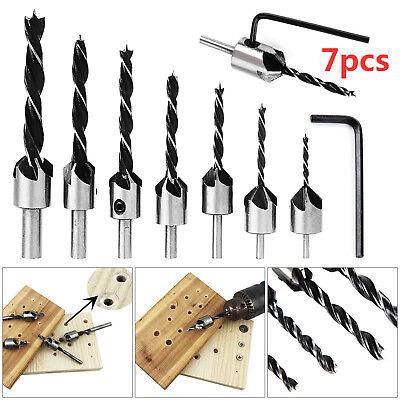 3 XPop  Hex Countersink Boring Set for Wood Metal Quick Change Drill Bit Tool