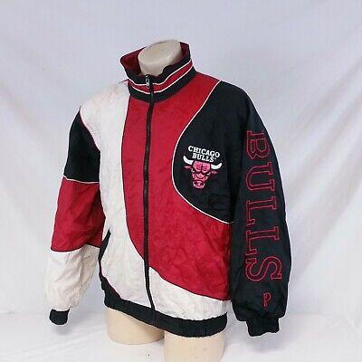 Vintage 90s Chicago Bulls Pro Player Windbreaker Jacket Daniel Young Coat Large