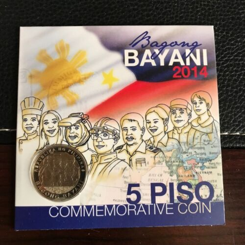 """PHILIPPINES 2014 5 PISO NEW HEROES """"BAGONG BAYANI"""" COMMEMORATIVE COIN"""