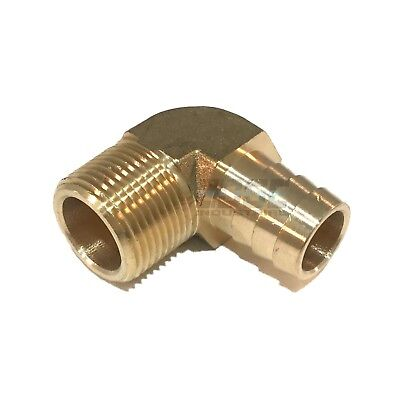 34 Hose Barb Elbow X 34 Male Npt Brass Pipe Fitting Thread Gas Fuel Water Air