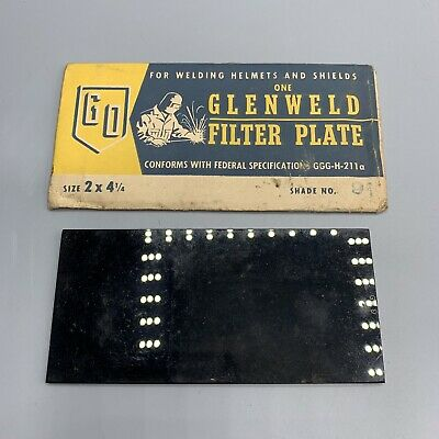 Vintage 1 Glenweld Filter Plate Lens Shade No. 11 Welding Helmet 2 X 4 Green
