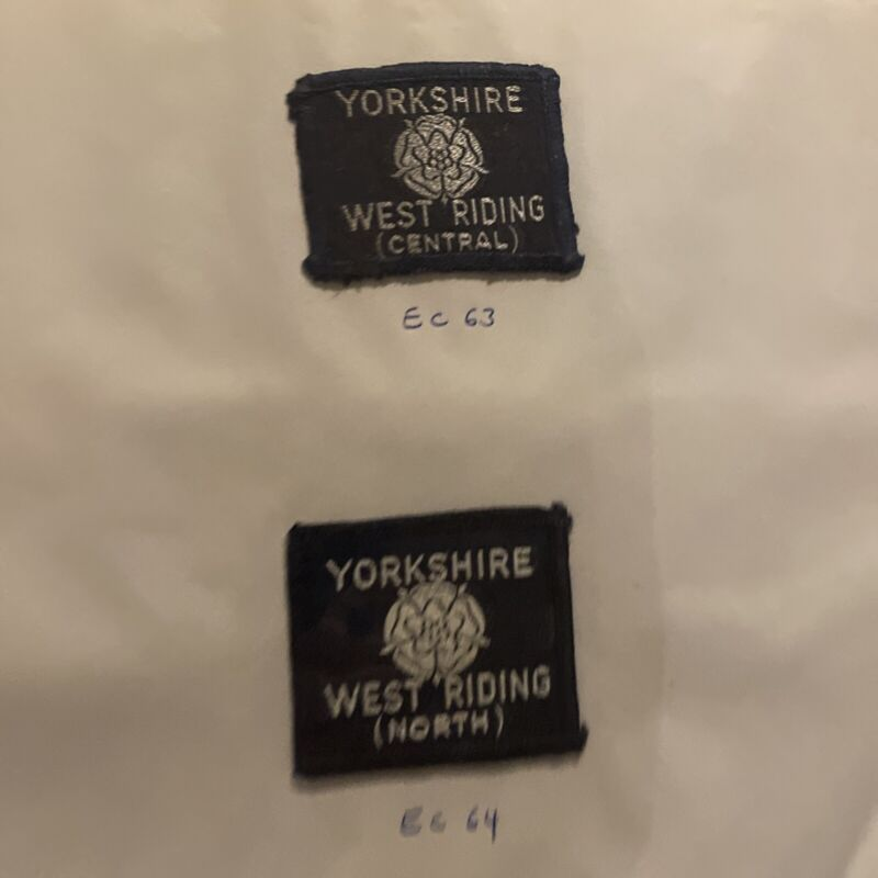 BRITISH UK SCOUT YORKSHIRE WEST RIDING CENTRAL & NORTH COUNTY Rare  EC 63 EC 64
