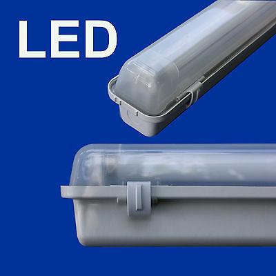 LED Set Feuchtraumleuchte Feuchtraumlampe LED Röhre 120cm 18W 4000 K 1800 Lumen