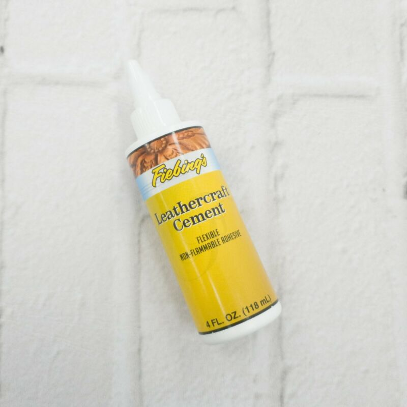 Leathercraft Cement Leather Flexible Adhesive Crafts Fiebings Tanners Bond 4 oz