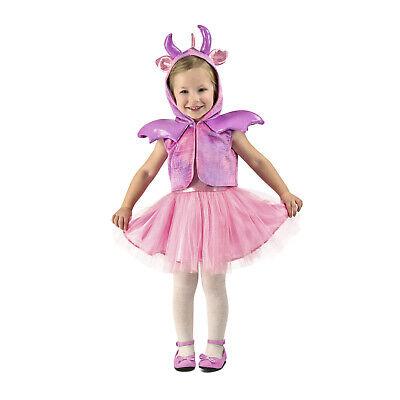 Toddler Girls Pink Princess Dragon Cute Costume Dress 6/12M 12/18M 18M/2T XS (Pink Dragon Costume)