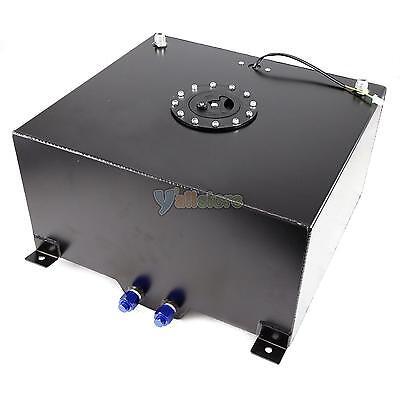 15 Gallon Universal Aluminum Racing/Drift Fuel Cell Tank + Level Sender Black