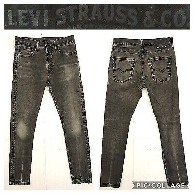 Levi's 512 mens size 32 x 30 gray slim tapered fit jeans CH8