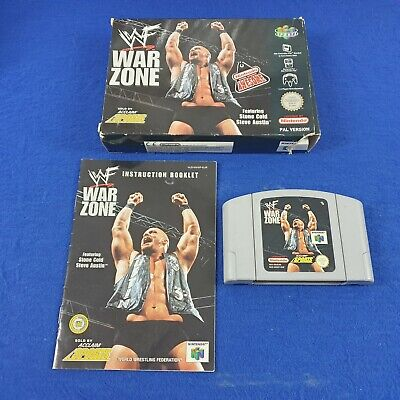 N64 WWF WAR ZONE Boxed & Complete Wrestling PAL Version