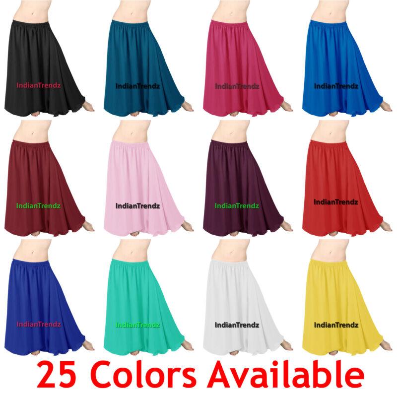 2 Layer Gypsy Skirt Chiffon Full Circle Belly Dance Tribal Flamenco Double Jupe