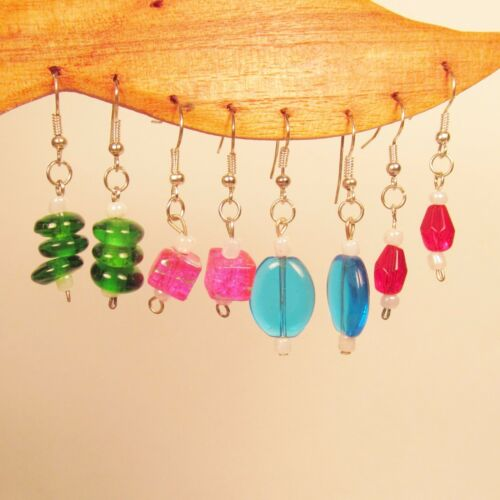 Wholesale Lot 20 PCS Assorted Styles Colors Handmade Glass Beaded Drop Earrings