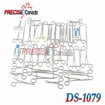 91 Pcs Caninefeline Spay Pack Veterinary Surgical Instruments Ds-1079