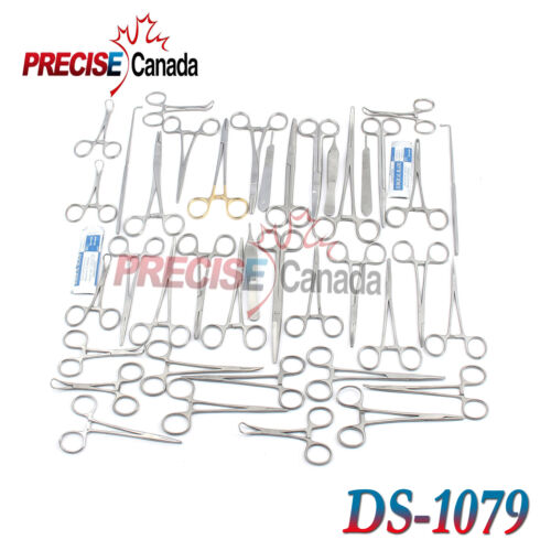 91 PCS CANINE+FELINE SPAY PACK VETERINARY SURGICAL INSTRUMENTS DS-1079