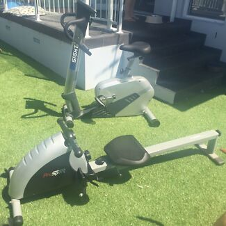 Exercise bike and rowing machine  Bass Hill Bankstown Area Preview