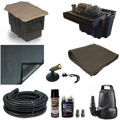Patriot 10 X 15 Small Pvc Pond Kit 3200 Gph Pump 16 Inch ...