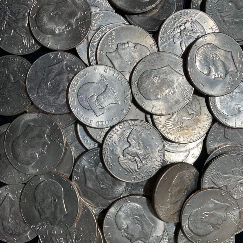 Ike Dollars 10 Count lot 1972 P & D Regular Issues $1 Eisenhower