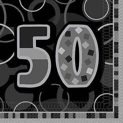 16 Happy 50th Birthday Black Sparkle 6.5