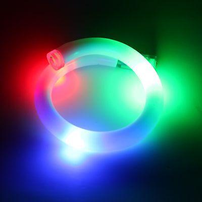 LED Bracelet Blinking Flash Bangle Color Changing Rave Festival Gear